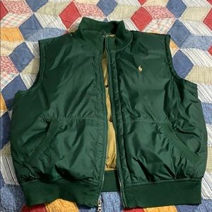 Green and gold XL men's polo Ralph Lauren vest